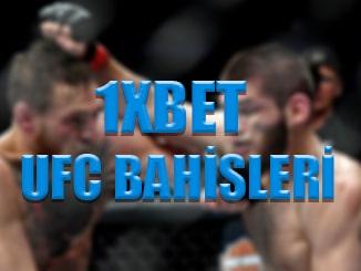 1xbet sitesinde UFC bahisleri nasıl yapılır ?